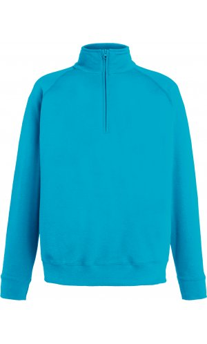Lightweight Zip Neck Sweat [Azurblau, S]