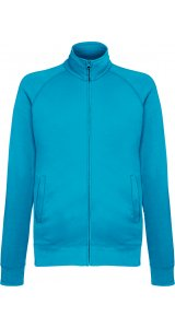 Lightweight Sweat Jacket [Azurblau, XL]