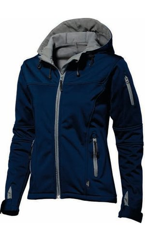 Damen Match Softshell Jacke [navy, S]