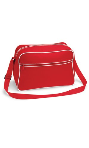 Retro Shoulder Bag [Classic Red White, One Size]