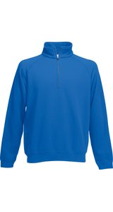 Premium Zip-Neck Sweat [Royal, L]