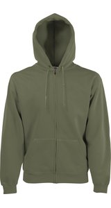 Premium Hooded Sweat Jacket [Olive, S]
