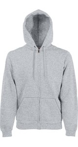 Premium Hooded Sweat Jacket [Graumeliert, S]