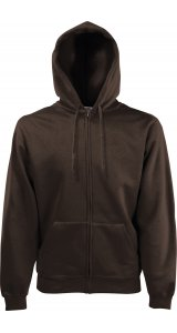 Premium Hooded Sweat Jacket [Braun, XL]