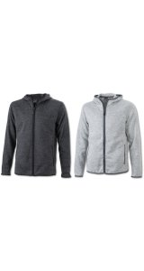 Mens Knitted Fleece Hoody