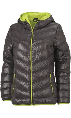 Ladies Down Jacket [carbon acid yellow, S]