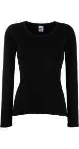 Lady-Fit Longsleeve Valueweight [Schwarz, 2XL]