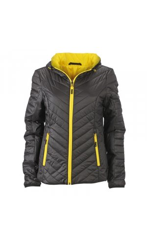 Ladies Lightweight Jacket [black yellow, S]