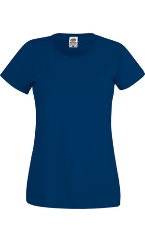Lady-Fit Original T [Navy, XS]