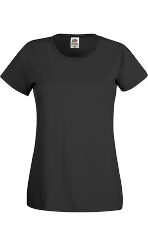 Lady-Fit Original T [Schwarz, XS]