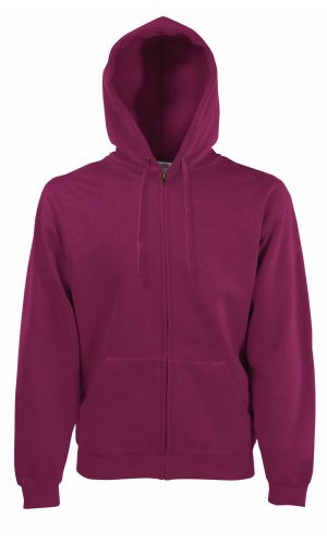 HOODED JACKET CLASSIC, Fotl   [BURGUND, S]