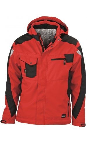 Craftsmen Softshell Jacket [red black, S]