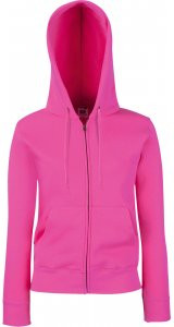 Lady-Fit Premium Hooded Sweat Jacket [Fuchsia, 2XL]