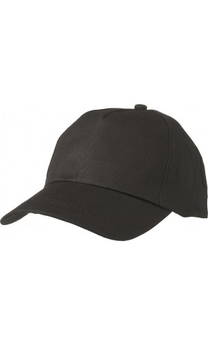 5 Panel Promo Cap leicht laminiert [black, One-size]
