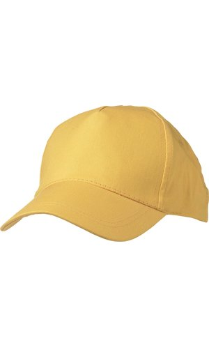 5 Panel Promo Cap leicht laminiert [gold yellow, One-size]
