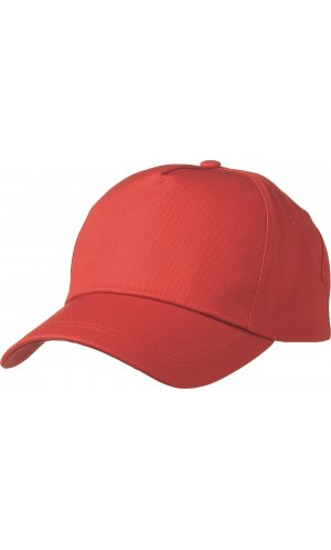 5 Panel Promo Cap leicht laminiert [signal red, One-size]