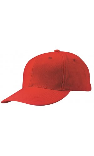 6 Panel Cap laminiert [red, One-size]