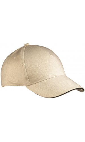 5 Panel Sandwich Cap [natural navy, One-size]