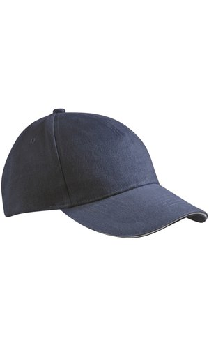 5 Panel Sandwich Cap [navy white , One-size]