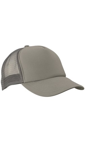 5 Panel Polyester Mesh Cap [dark grey, One-size]