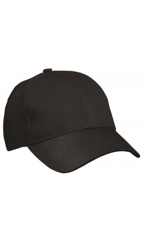6 Panel Cap Heavy Cotton [black, One-size]