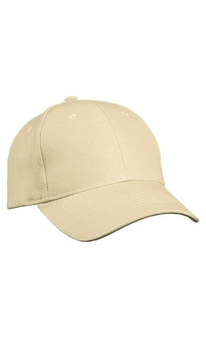 6 Panel Cap Heavy Cotton [beige, One-size]