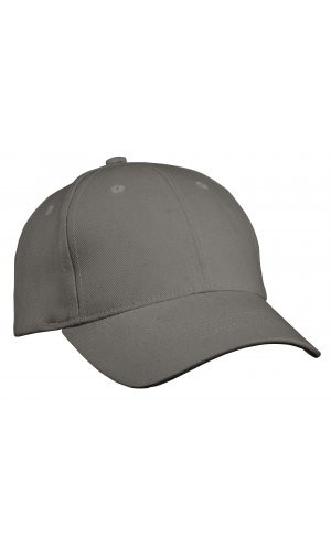 6 Panel Cap Heavy Cotton [dark grey, One-size]