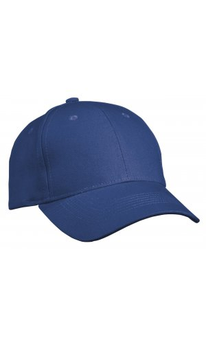 6 Panel Cap Heavy Cotton [royal, One-size]