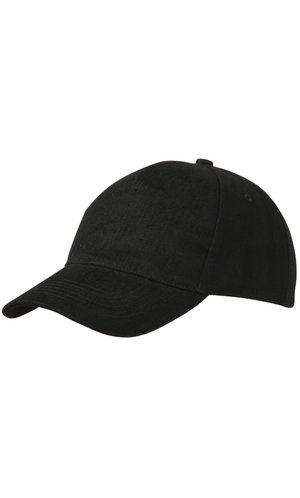 5 Panel Cap Heavy Cotton [black, One-size]