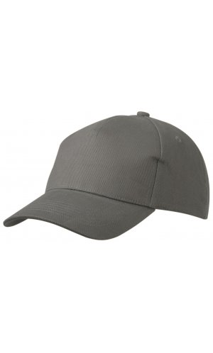 5 Panel Cap Heavy Cotton [dark grey, One-size]