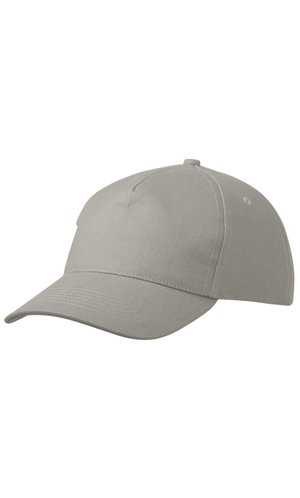 5 Panel Cap Heavy Cotton [light grey, One-size]