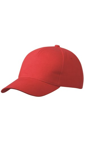 5 Panel Cap Heavy Cotton [red, One-size]