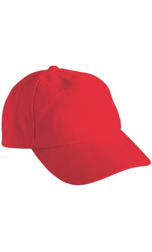 6 Panel Raver Cap [signal red, One-size]