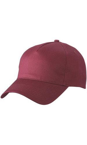 5 Panel Cap [burgundy, One-size]
