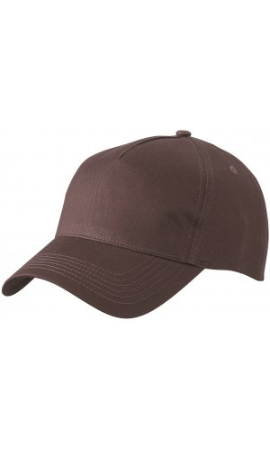 5 Panel Cap [dark brown, One-size]