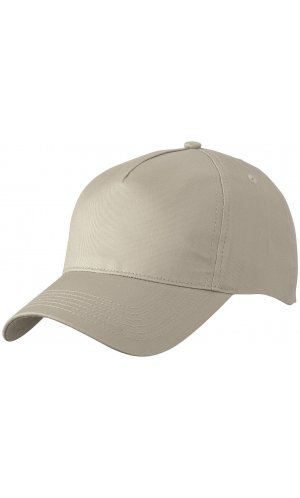 5 Panel Cap [khaki, One-size]