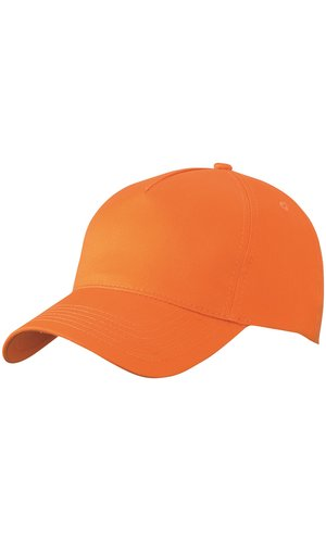 5 Panel Cap [orange, One-size]