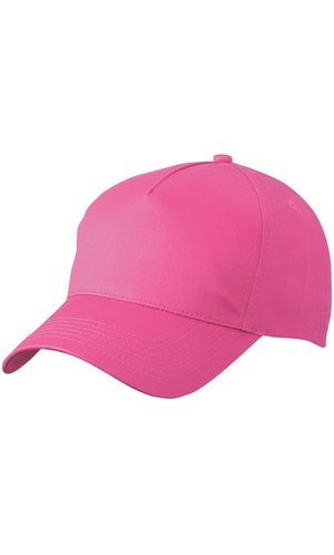 5 Panel Cap [pink, One-size]
