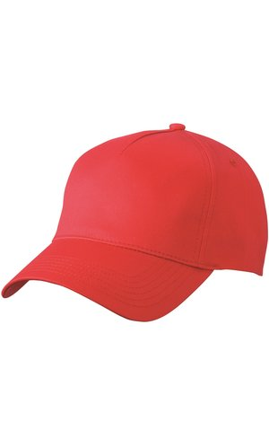 5 Panel Cap [red, One-size]