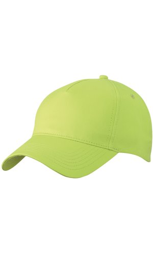 5 Panel Cap [sunny lime, One-size]