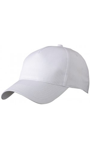 5 Panel Cap [white, One-size]