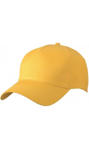5 Panel Cap [yellow, One-size]