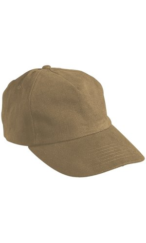 5 Panel Cap [dark khaki, One-size]
