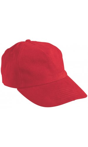 5 Panel Cap [signal red, One-size]