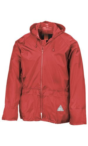 Waterproof Jacket and Trouser Set [red, L]