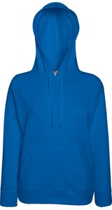 Lady Fit Lightweight Hooded Sweat [Royal, 2XL]