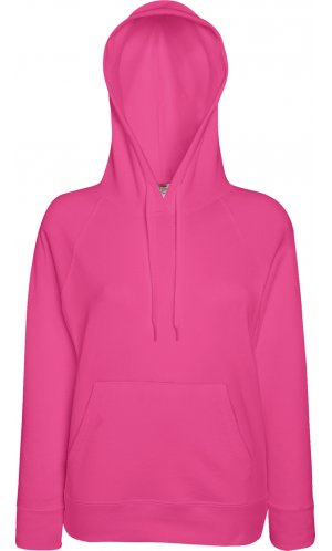 Lady Fit Lightweight Hooded Sweat [Fuchsia, 2XL]