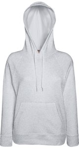 Lady Fit Lightweight Hooded Sweat [Graumeliert, 2XL]
