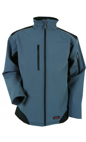Workwear Ripstop Softshell [grey black, S]
