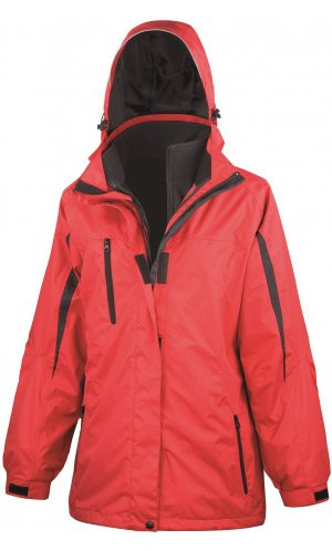 Womens 3-in-1 Journey Jacket [red black, M]